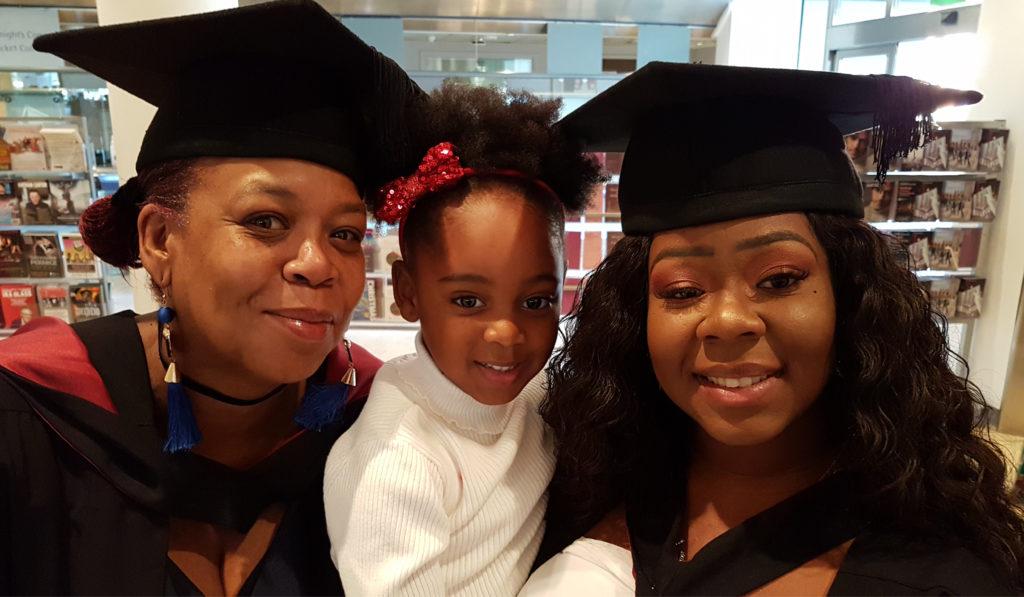 Kimoni, Graduate Advisor graduating alongside her mum