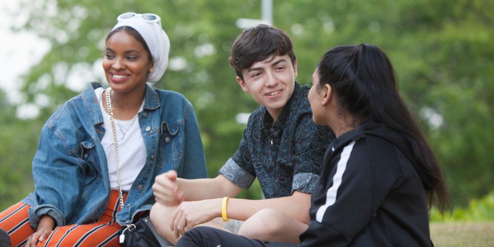Students socialising at a summer school
