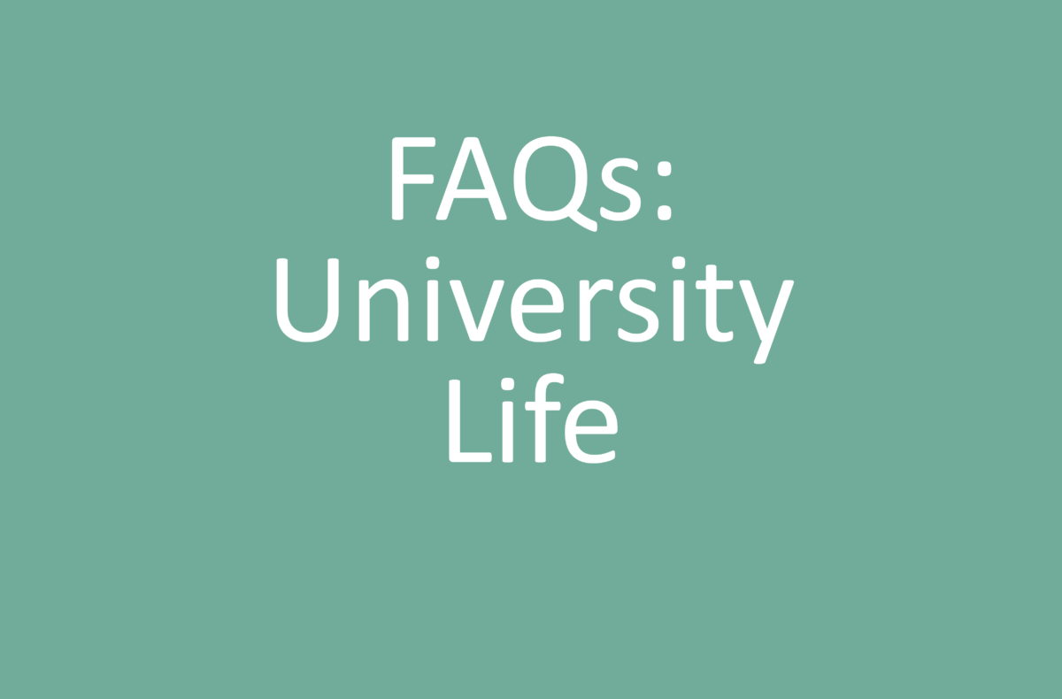 FAQs for students about university life