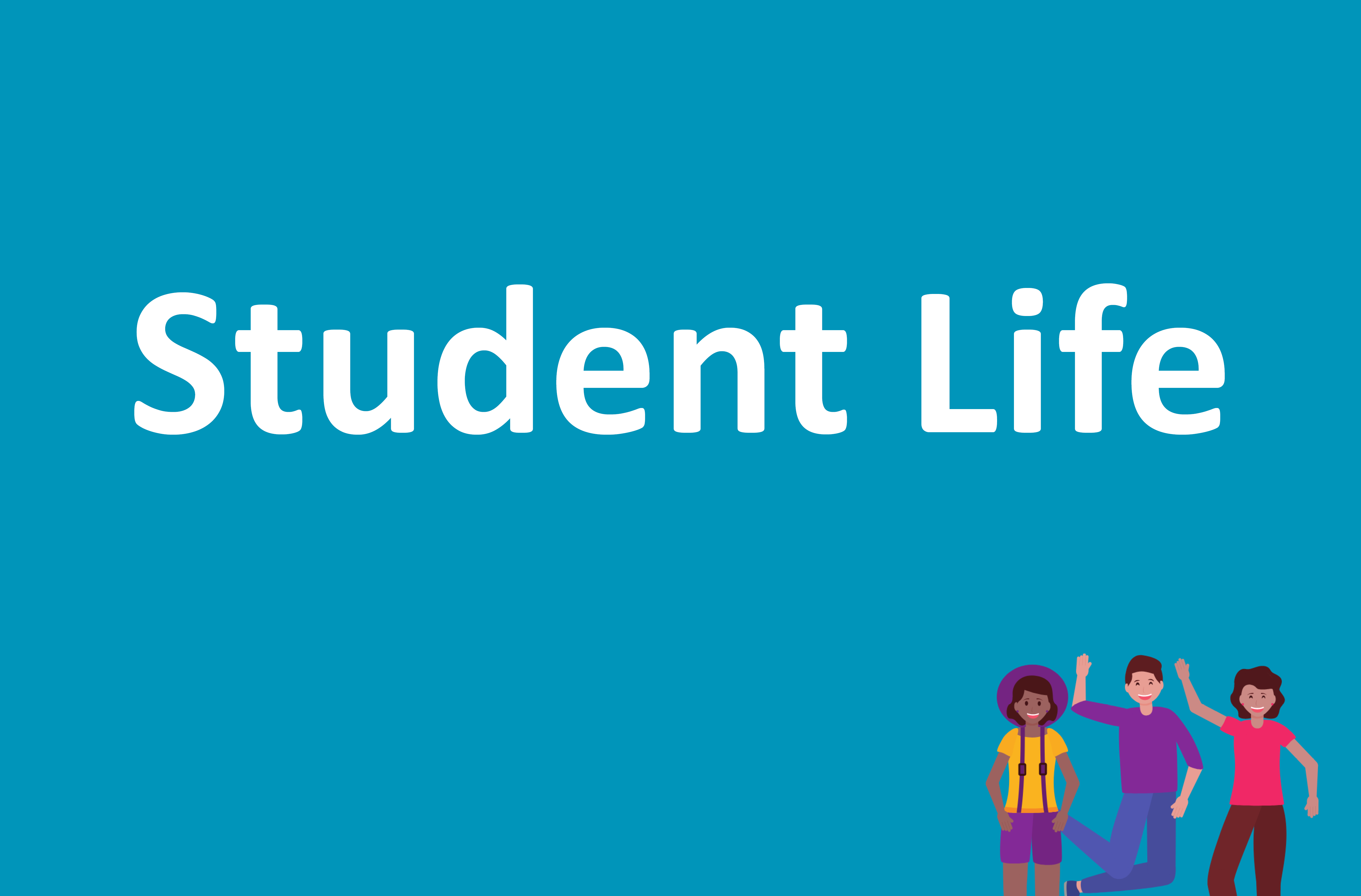 student life videos button